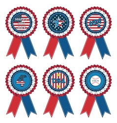 Usa rosettes vector