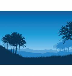 Landscape at night vector