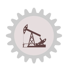 Silhouette of an oil pump gear vector