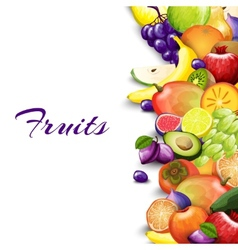 Fruits border background vector