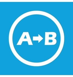A to b sign icon vector