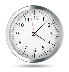 Silver watch vector