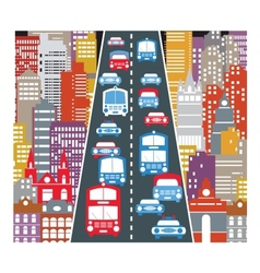 Automobile traffic vector