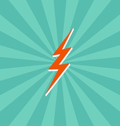 Lightning bolt theme vector