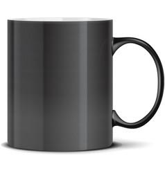 Black mug on white vector