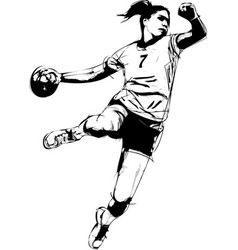 Woman handball vector