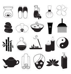 Spa and aroma icons set vector