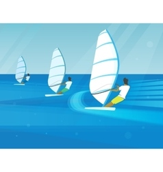 Windsurfing competition vector