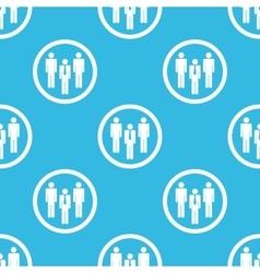 Work team sign blue pattern vector