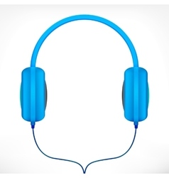 Blue headphones vector