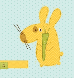 Cartoon bunny card vector