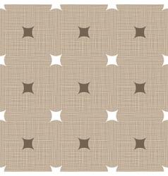 Seamless retro pattern linen vintage background vector
