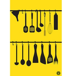 Litchen utensils vector