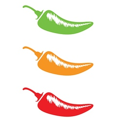 Chilli hot mild medium hot vector