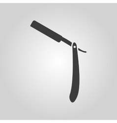 The razor icon shaver symbol flat vector