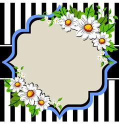 White daisy flowers frame with vector
