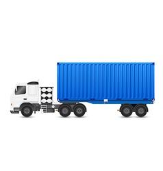 Truck blue vector
