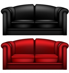 Leather sofa vector