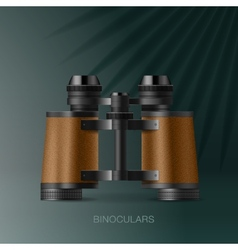 Binoculars adventure concept for scientific vector