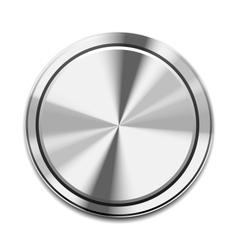 Metal button icon vector