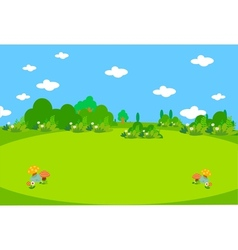 Spring lanscape beautiful vector