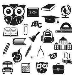 Icons education vector