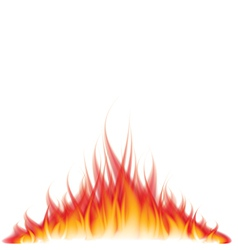 Object fire white vector