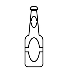 Beer bottle outline vector