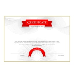 Modern certificate template diplomas currency vector