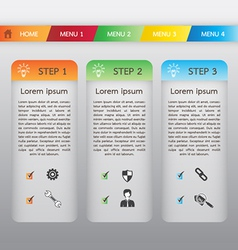 Web boxes template and header menu vector