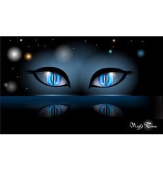 Night halloween eyes vector