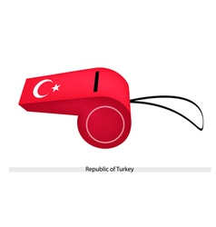 A whistle of the republic of turkey vector
