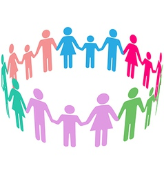Family diversity social community people vector