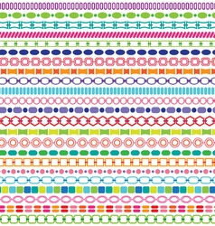 Border patterns vector