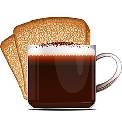 Coffee and toast vector