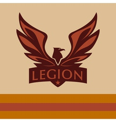 Logo with a picture of an eagle legion vector