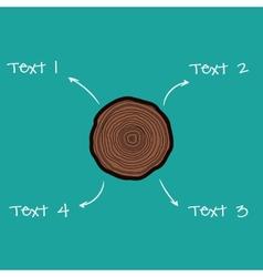Tree rings scheme vector