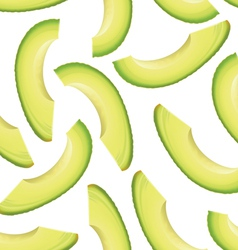 Avocado seamless background vector