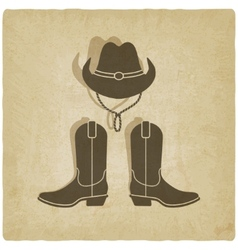 Cowboy old background vector
