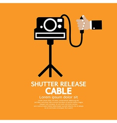 Shutter release cable vector