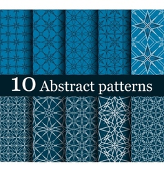 Set of 10 seamless abstract patterns vector
