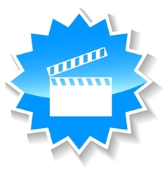 Movie blue icon vector