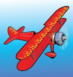 Propeller airplane toy vector