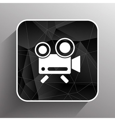 Icon isolated chair recording square camcorder vector