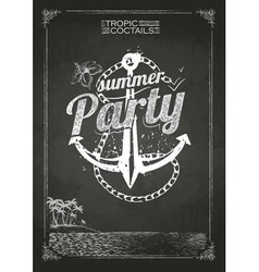 Summer party poster vector