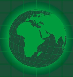 Europe and africa green vector