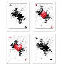 Poker card vector