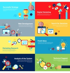 Internet design concept set vector