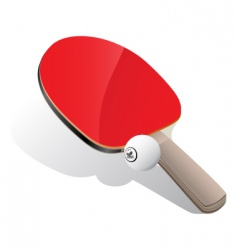 Ping-pong paddle and ball vector