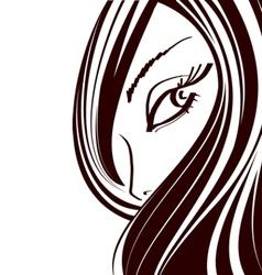 Cute makeup icon vector
